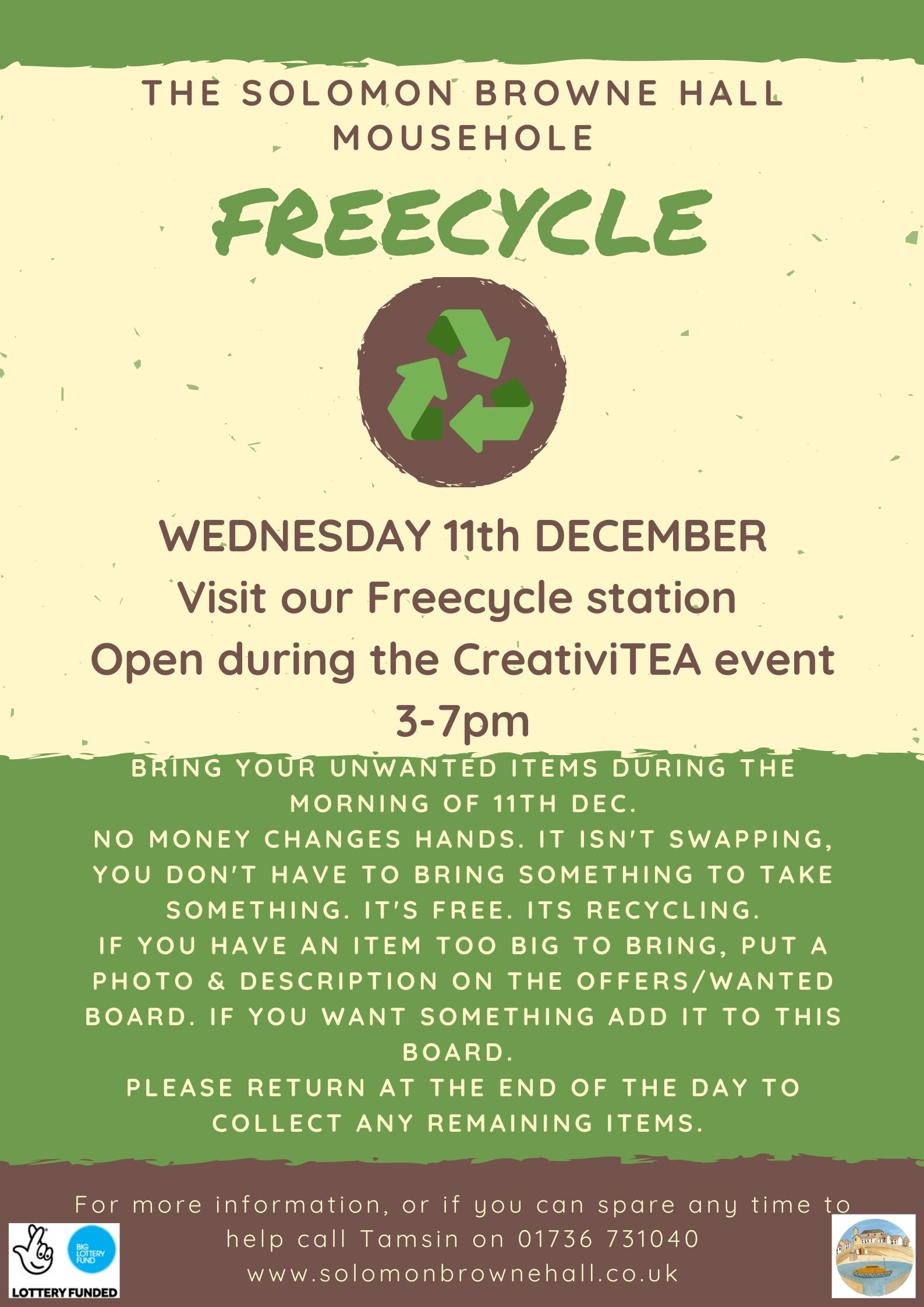 CreativiTEA & Freecycling